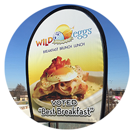 Wild Eggs Wind Jockey Banner